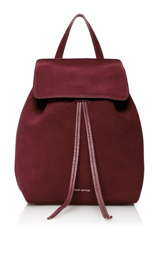 Medium mansur gavriel burgundy mini backpack  2