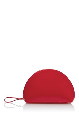 Medium mansur gavriel red mini moon clutch