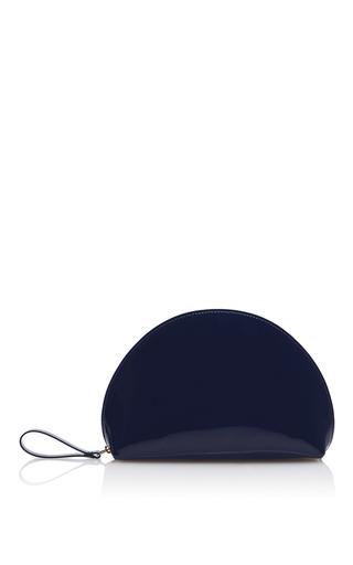 Medium mansur gavriel navy mini moon clutch  3