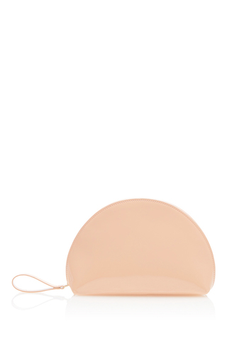 Medium mansur gavriel pink mini moon clutch  4