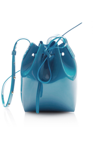 Medium mansur gavriel blue mini mini  4