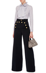 Crest Button Wide Legged Pant by RED VALENTINO Now Available on Moda Operandi