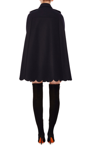 Scalloped Cape With Crest Buttons by RED VALENTINO Now Available on Moda Operandi