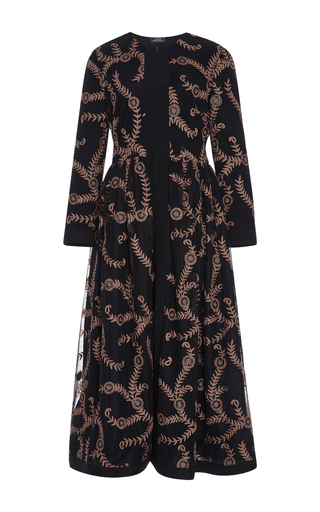 Medium alena akhmadullina black long sleeve embroidered coat