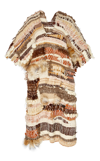 Medium brother vellies brown artifact poncho