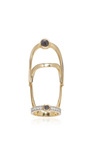 Full Finger Black And White Diamond Ring by ARA VARTANIAN Now Available on Moda Operandi