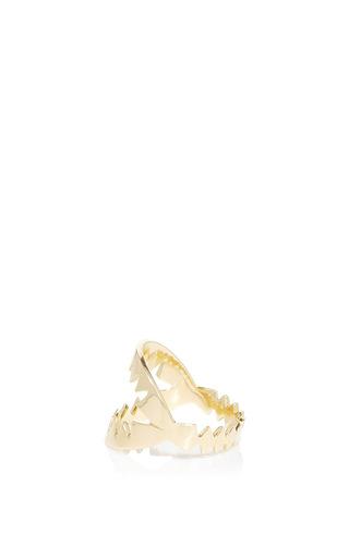 Yellow Gold Shark Ring by ARA VARTANIAN Now Available on Moda Operandi