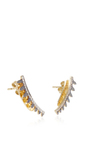 White Diamond And Gold Earrings by ARA VARTANIAN Now Available on Moda Operandi