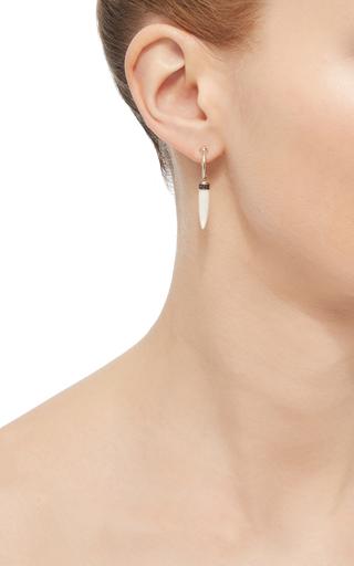 White Gold Amazonite Single Earring  by ARA VARTANIAN Now Available on Moda Operandi