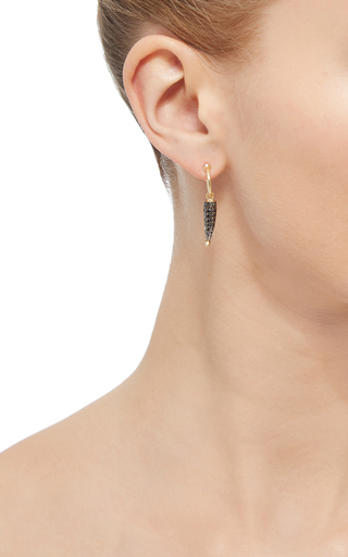 Black Diamond Single Earring by ARA VARTANIAN Now Available on Moda Operandi