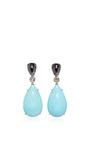 Turquoise And Diamond Earrings by ARA VARTANIAN Now Available on Moda Operandi