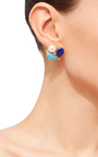 Mixed Stone Stud Earrings by BOUNKIT Now Available on Moda Operandi