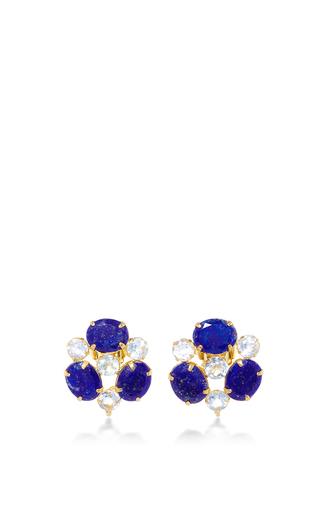 Fluorite Drop Earrings by BOUNKIT Now Available on Moda Operandi