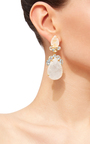 Moonstone And Blue Quartz Drop Earrings by BOUNKIT Now Available on Moda Operandi