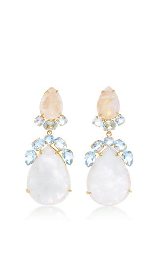 Medium bounkit multi moonstone and blue quartz drop earrings