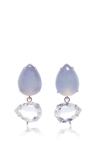 Mixed Stone Drop Earrings by BOUNKIT Now Available on Moda Operandi