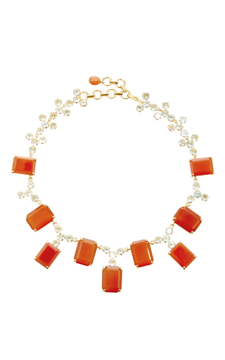 Medium bounkit multi carnelian and blue quartz necklace