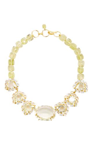 Medium bounkit multi lemon quartz and aquamarine necklace