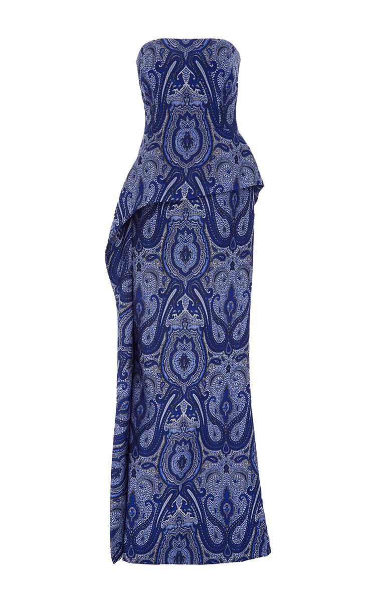 Cool Ottoman Paisley Strapless Evening Gown Frankydiablos Diy Chair Ideas Frankydiabloscom
