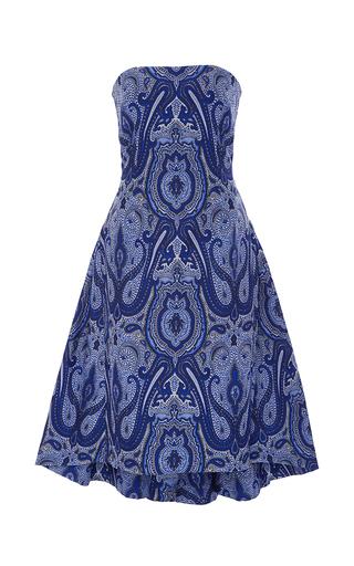 Medium elizabeth kennedy blue ottoman paisley strapless party dress