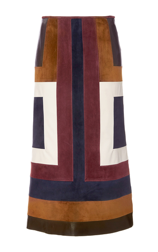 Medium gabriela hearst multi sitwell suede skirt