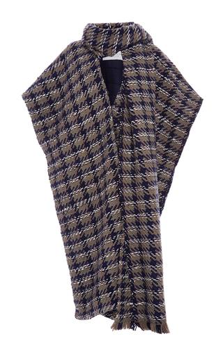 Medium gabriela hearst navy elizabeth houndstooth coat