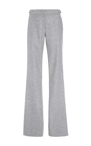 Medium gabriela hearst light grey augusta herringbone cashmere trouser