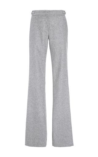 Medium gabriela hearst light grey augusta herringbone cashmere trouser