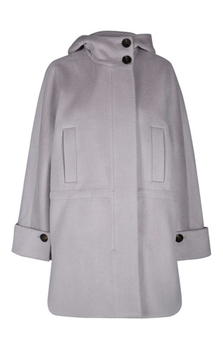 Medium dorothee schumacher light grey smooth volume coat