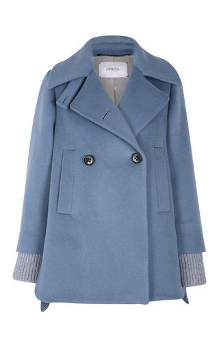 Medium dorothee schumacher blue smooth volume jacket