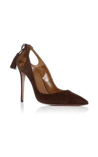 Medium aquazzura brown forever marilyn pump