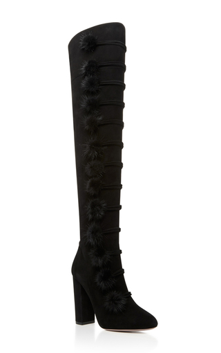 Medium aquazzura black ulyana boot