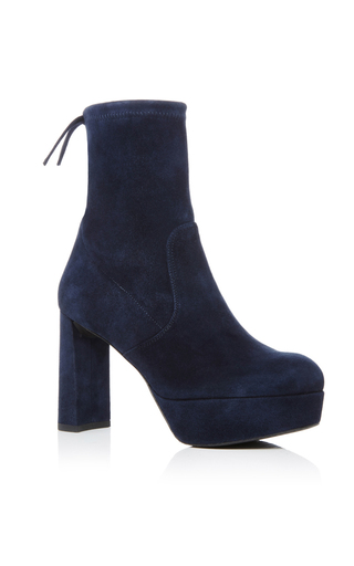 Suede Shorty Bootie by STUART WEITZMAN Now Available on Moda Operandi