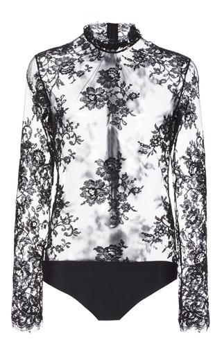 Medium houghton black carr chantilly lace bodysuit