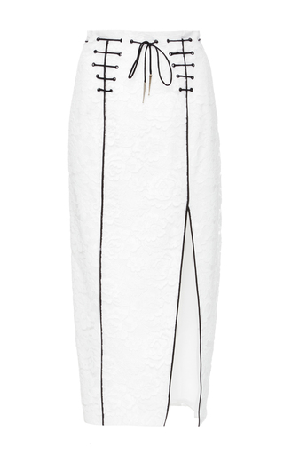 Medium houghton white galia lace skirt