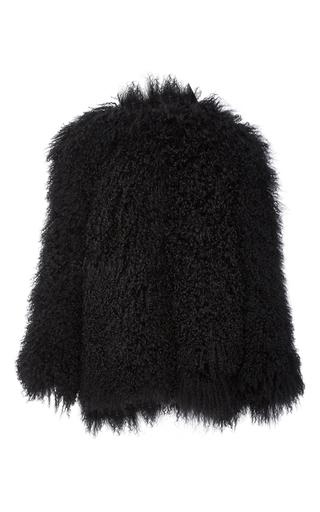 Medium houghton black ludlow mongolian fur jacket