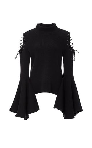 Medium houghton black bene knit top