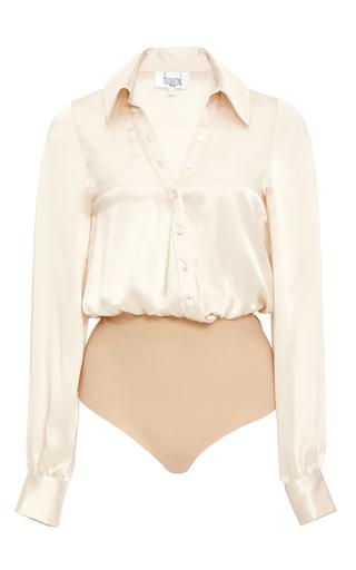 Medium houghton light pink lyra silk charmeuse bodysuit