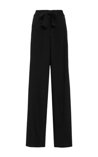 Medium houghton black black leo stretch wool crepe pant