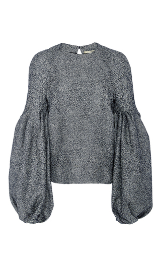 Medium hellessy light grey emmy constructed blouson sleeve top