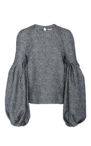 Medium hellessy light grey emmy constructed blouson sleeve top