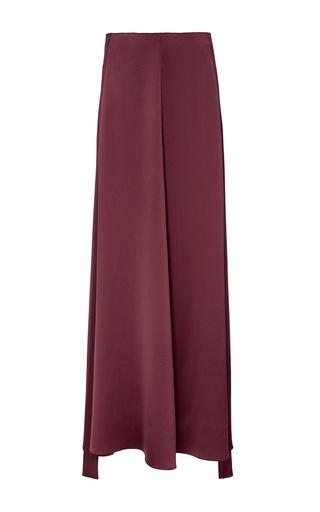 Medium hellessy burgundy alfi tuxedo heavy silk skirt