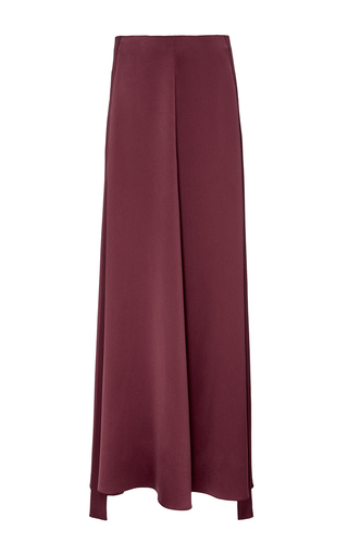 Medium hellessy burgundy alfi tuxedo heavy silk skirt