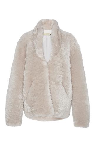 Medium hellessy ivory harold alpaca shearling bomber jacket