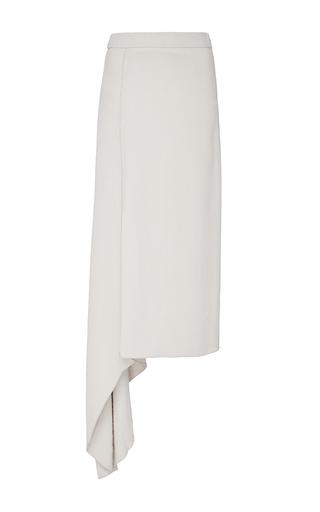Medium hellessy off white dasha bone asymmetric crepe skirt