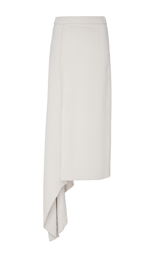 Medium hellessy off white dasha bone asymmetric crepe skirt