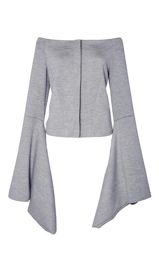 Medium hellessy light grey aoki kimono sleeve off the shoulder melange top