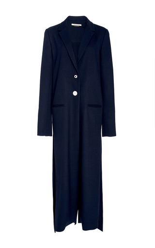 Medium hellessy navy cristo long split jacket