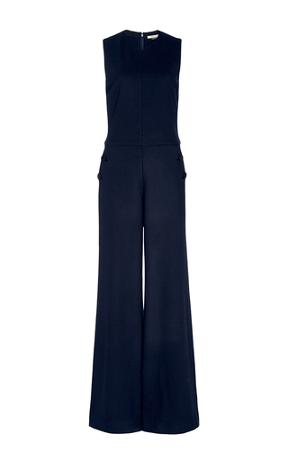 Medium hellessy navy first jumpsuit with covered accent buttons