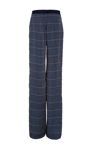 Medium hellessy plaid anton midnight straight leg grid silk pant